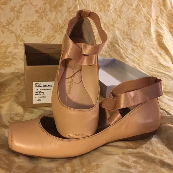 550c151312b Jessica Simpson Shoes - Jessica Simpson Mandalaye Nude Ballet Flats
